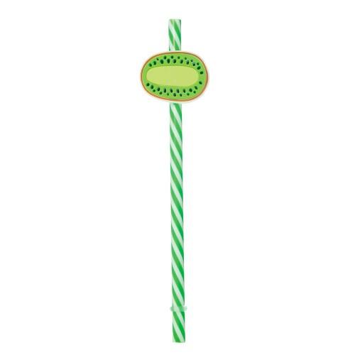 Canudo Sorbete • Verde • Kiwi • 06un.• Cromus