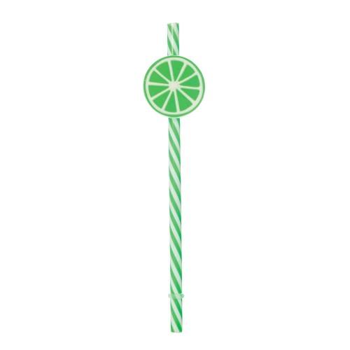 Canudo Sorbete • Verde • Limão • 06un.• Cromus