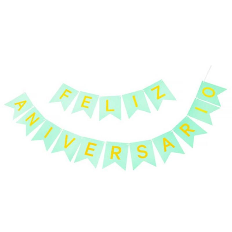 Faixa Feliz Aniversario • Verde