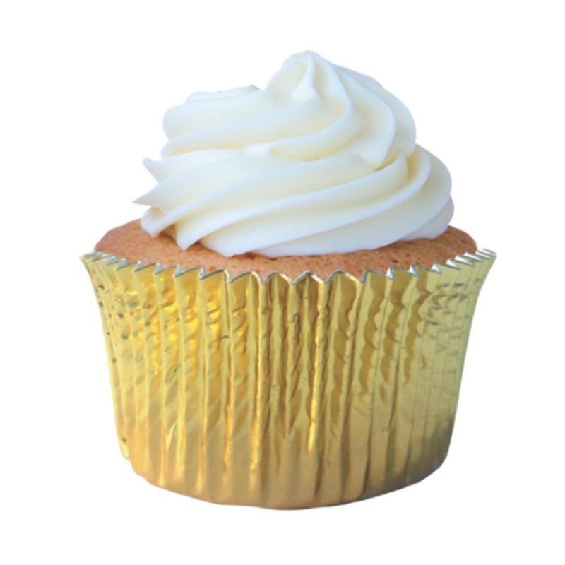 Forma para Cupcakes • Dourada • 50un • Mago