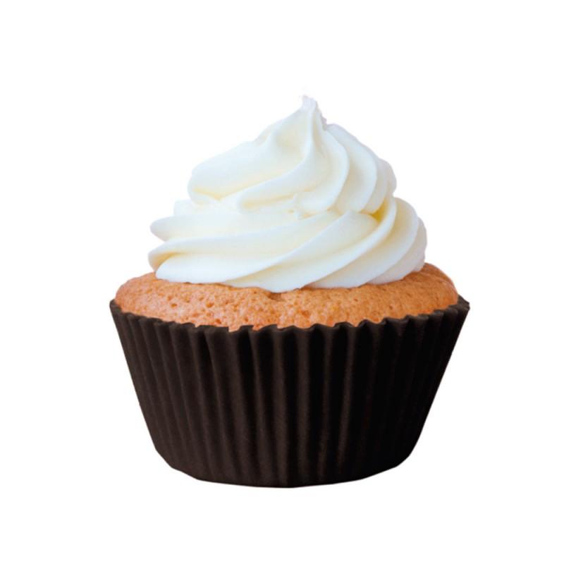 Forma para Mini Cupcake • Marrom • 45un • Mago