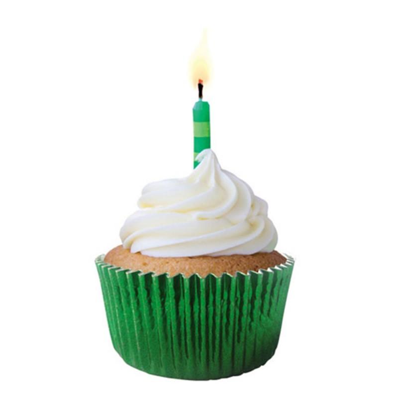 Forma para Cupcakes • Metalizada Verde • 50un • Mago