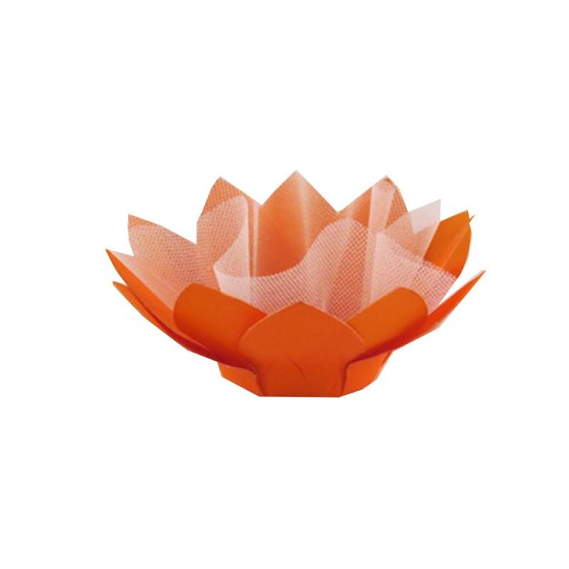 Forminha para doces • Flor• Laranja • 30un