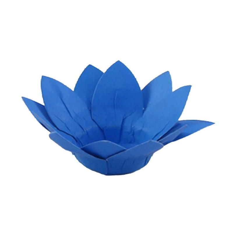 Forminha para doces • Flor Amarilis• Azul Claro • 40un.