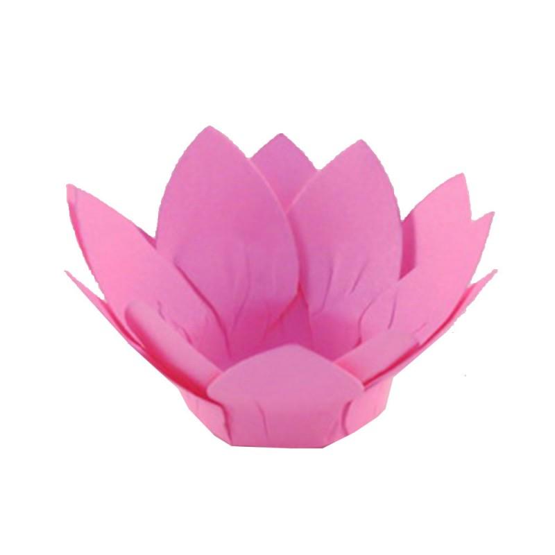 Forminha para doces • Flor Amarilis• Rosa Escuro • 30un.