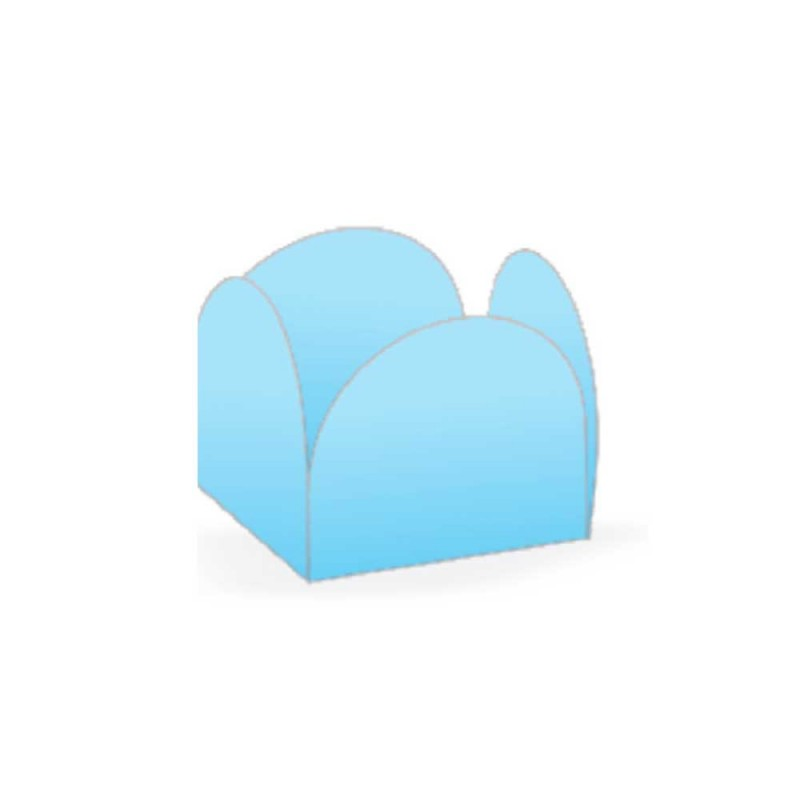Forminha Quatro Petalas • 50un • Azul Claro • NC TOYS