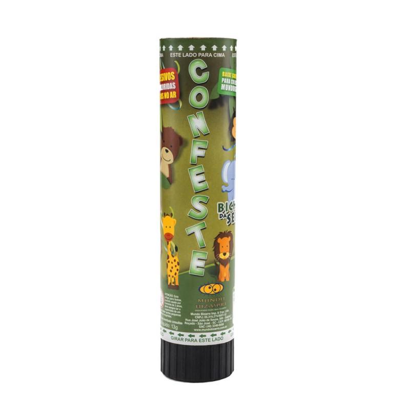 Lança Confetes • Papel Laminado • Bichos da Selva