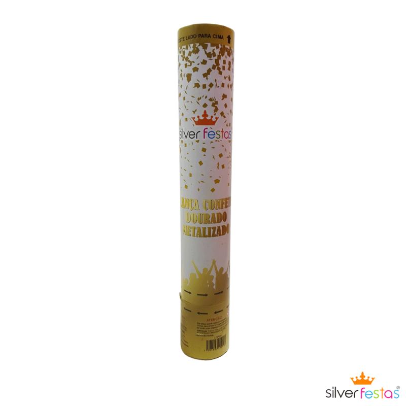 Lança Confetes Dourado • Silver Festas