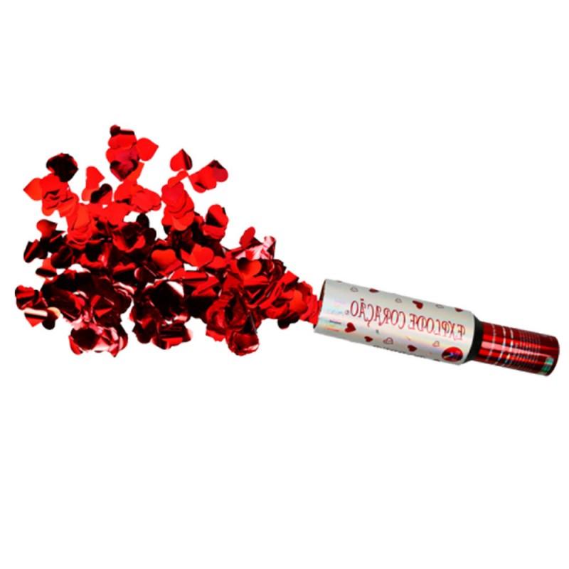 Lança Confetes • Explode Coração • Vermelho