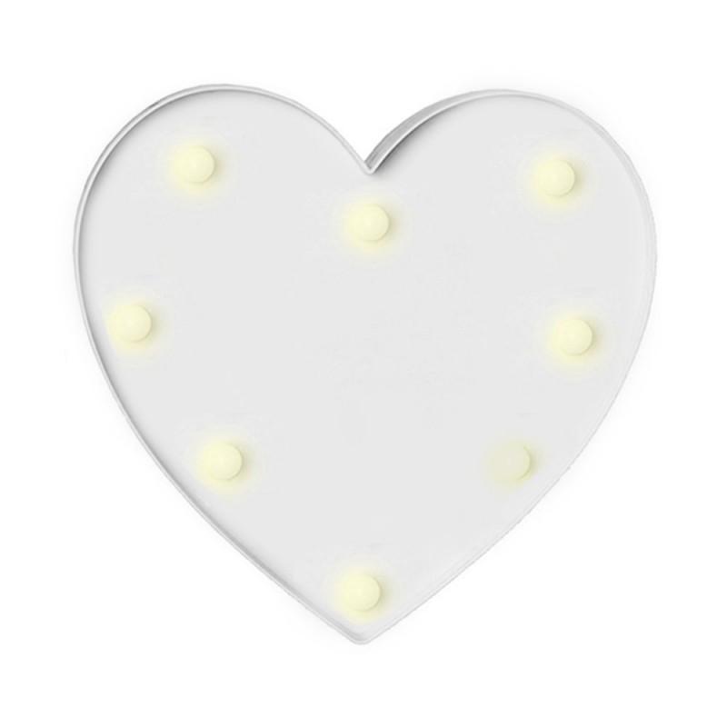 Luminária de Coração • Branco