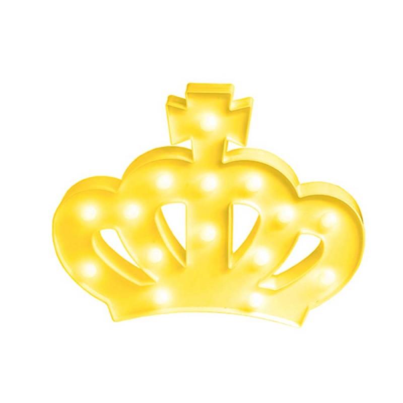 Luminária de Coroa • Amarela