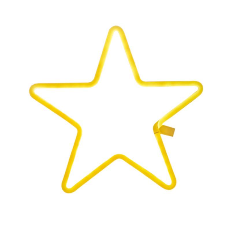 Luminária de Estrela • Amarela • Contorno