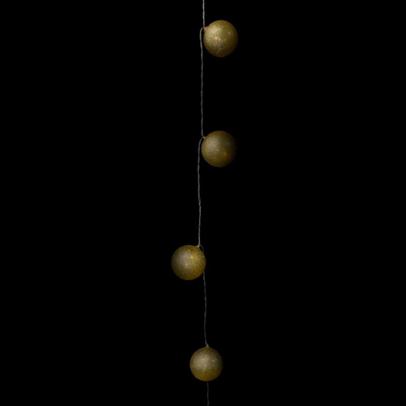 Bola • Dourada • 10un • Médio • Luminoso