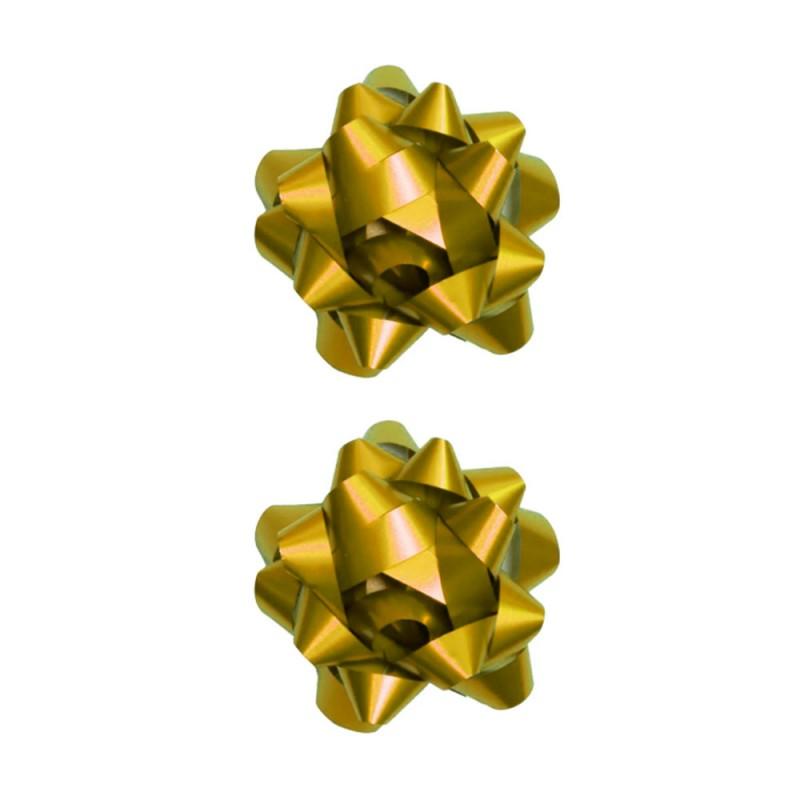 Laço Adesivado • 2 un • Dourado • Pequeno • Cromus