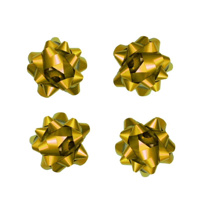 Laço Adesivado • 4 un • Dourado • Pequeno • Cromus