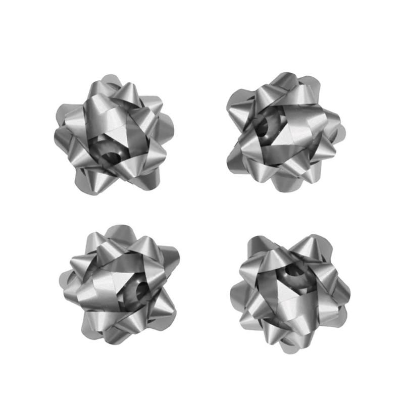 Laço Adesivado • 4 un • Prata • Pequeno • Cromus