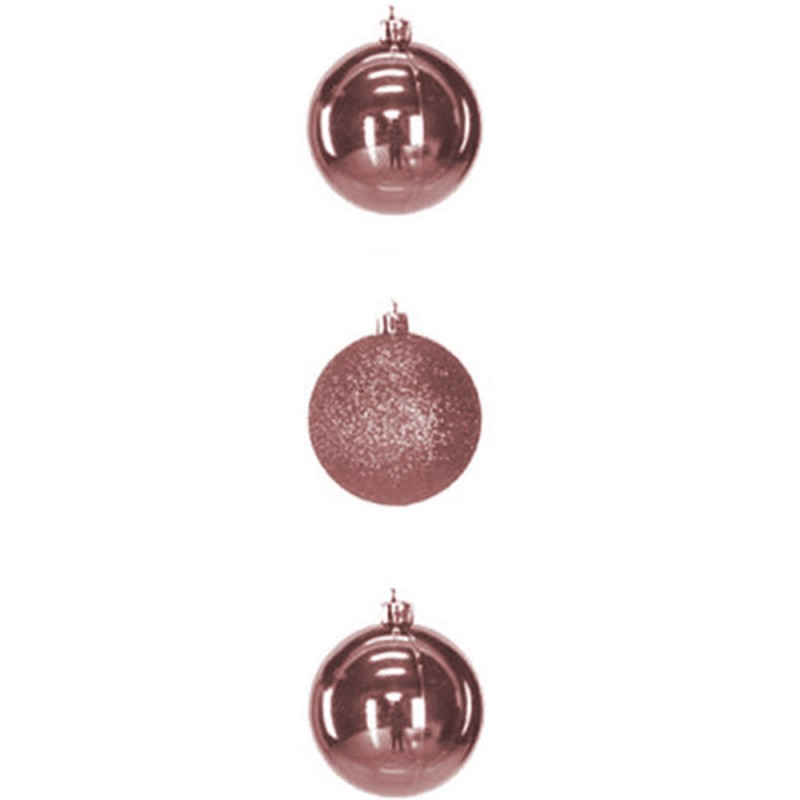 Bola • Rose • 3 un • Grande • Natal