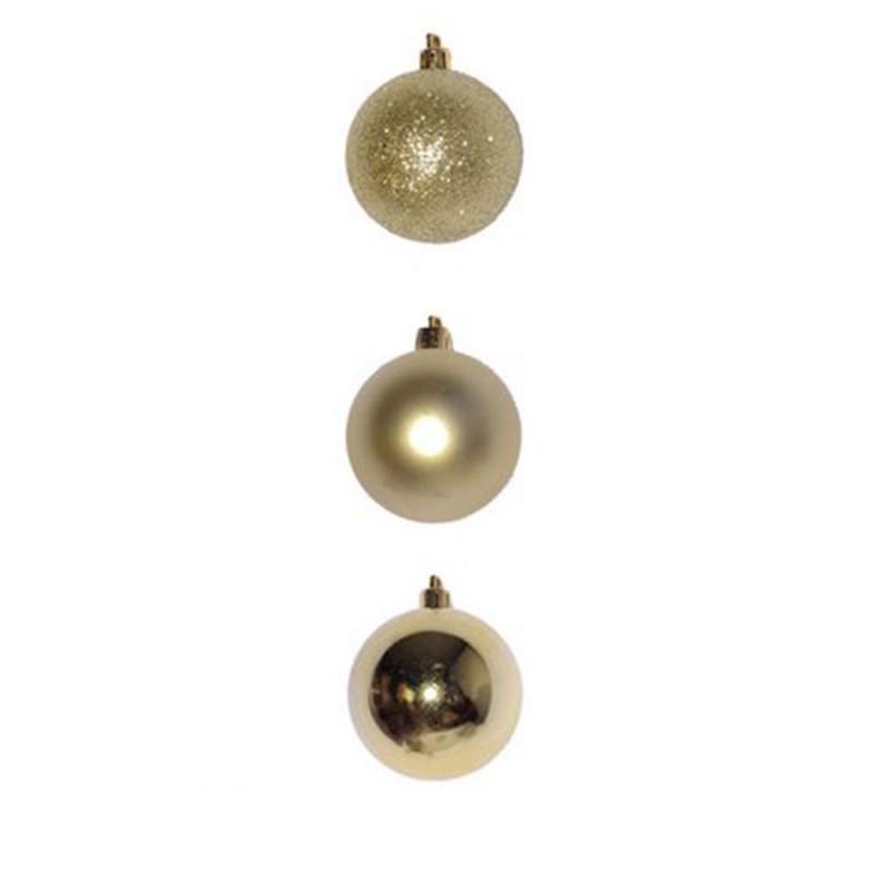 Bola • Dourada • 6 un • Média • Natal