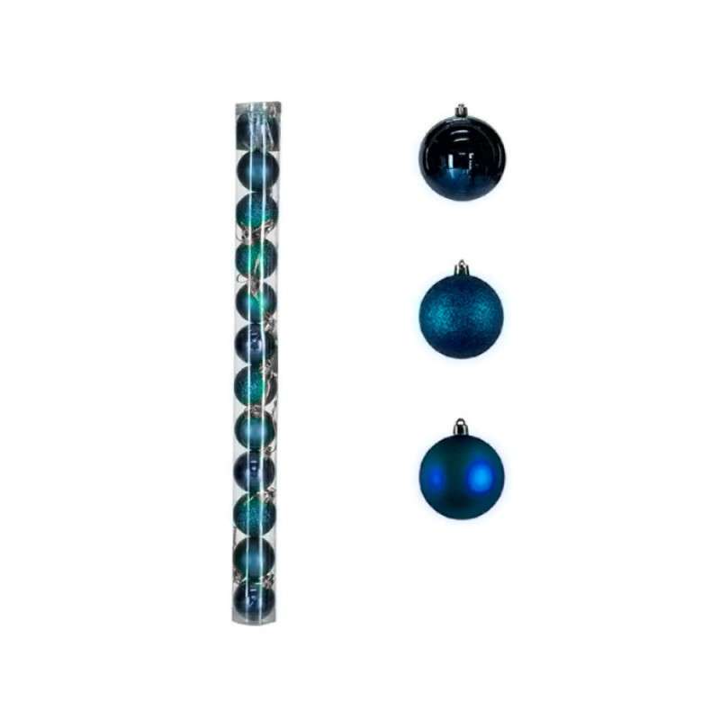 Bola • Azul • 12 un • Pequeno • Natal
