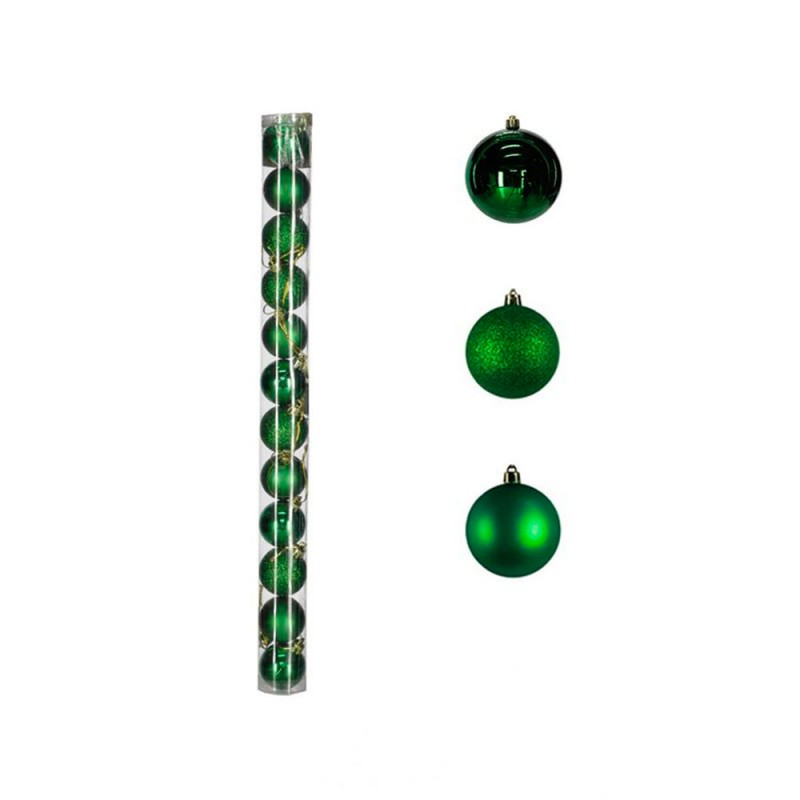 Bola • Verde • 12 un • Pequeno • Natal