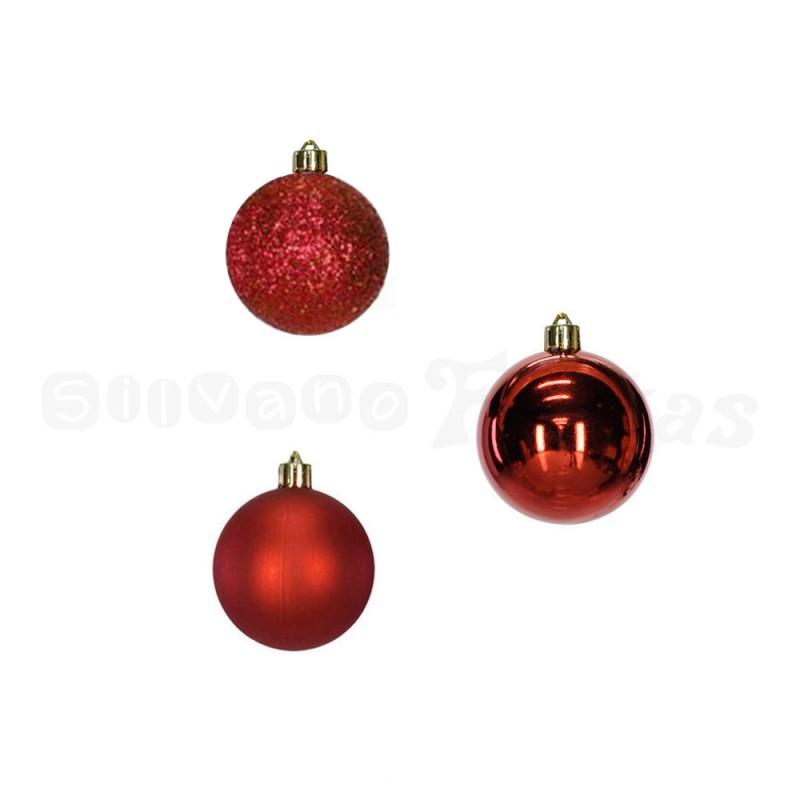 Bola • Vermelha • 12un • Pequeno • Natal