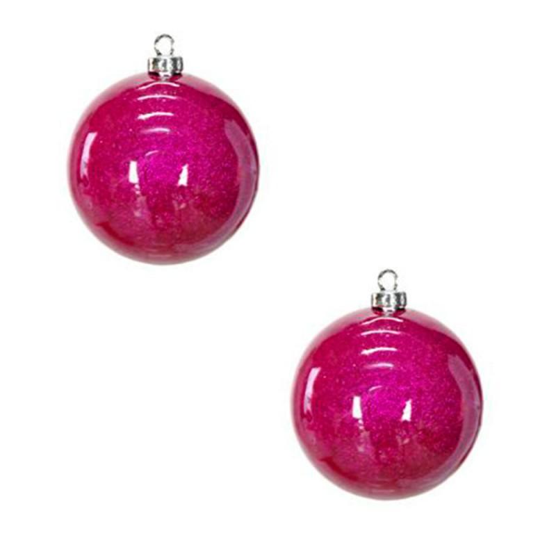Bola Decorada • Rosa • 2un • Grande • Natal