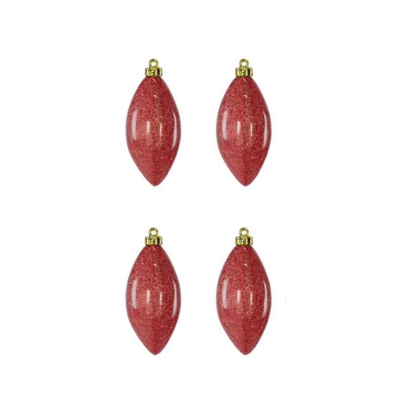 Enfeite de Plastico • Vermelho • 3 un • Natal