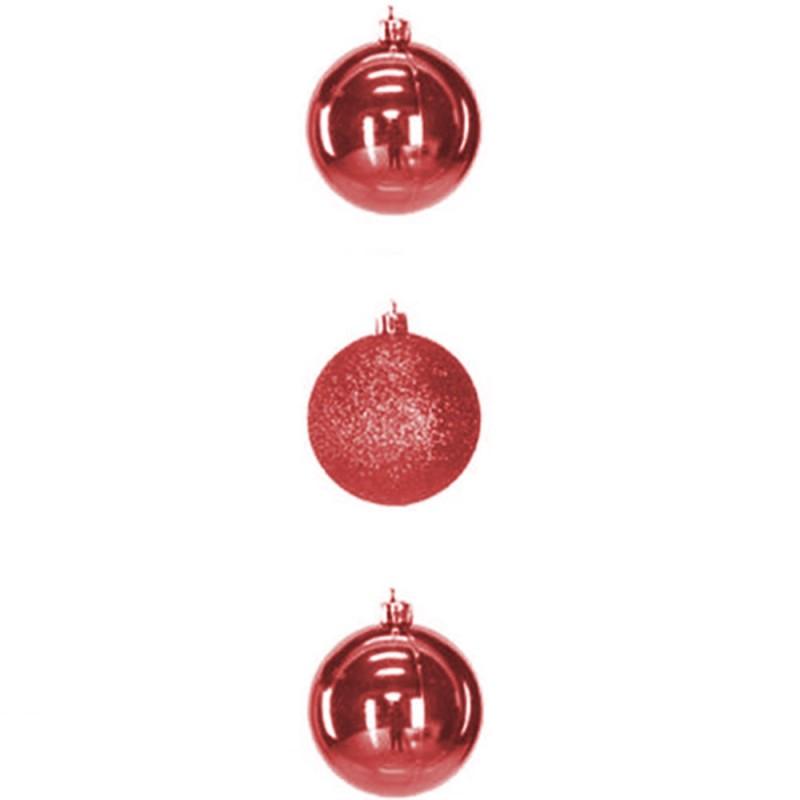 Bola • Vermelho • 3 un • Grande • Natal