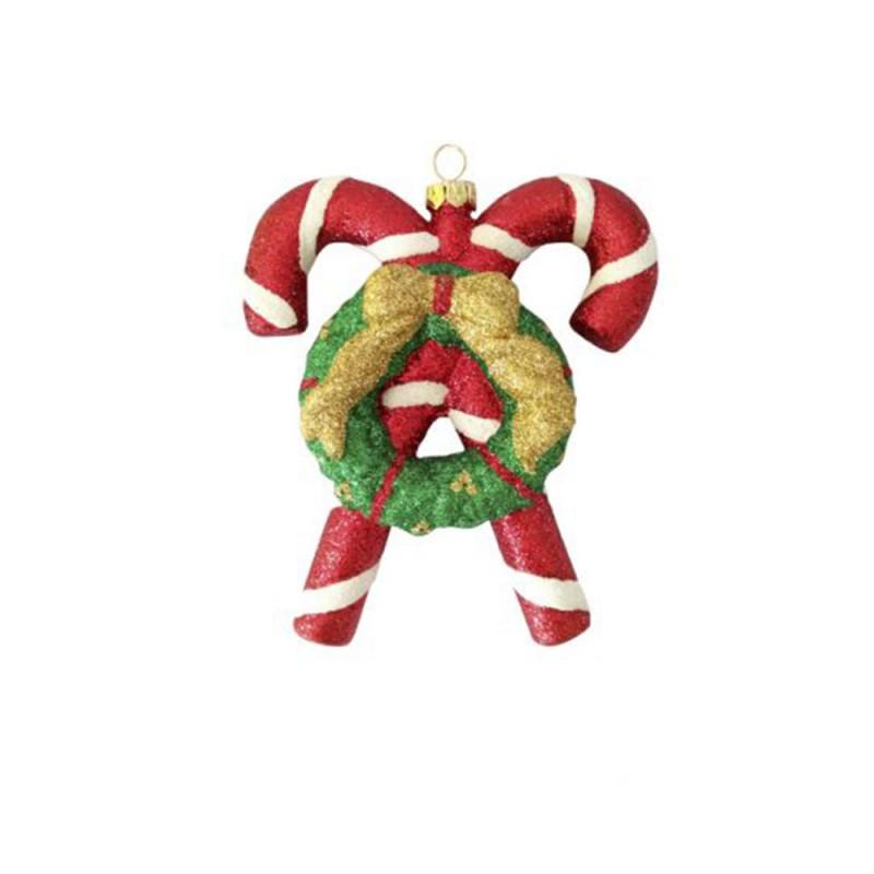 Enfeite • Bengala Doce Dupla • Natal