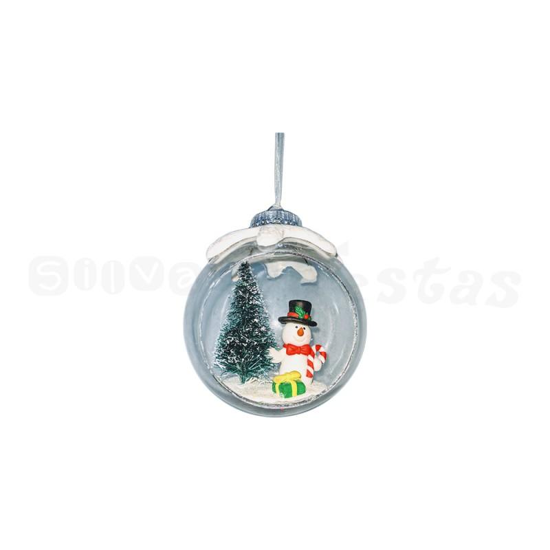 Bola Acrílica • Boneco de Neve • Natal