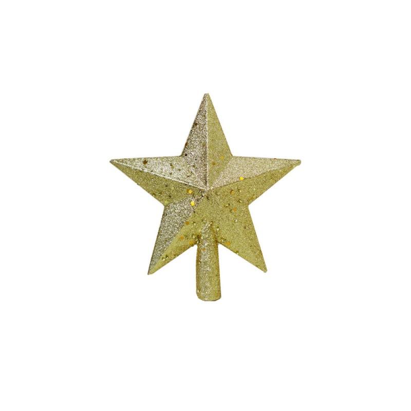 Estrela • Dourada com Glitter • Pequena