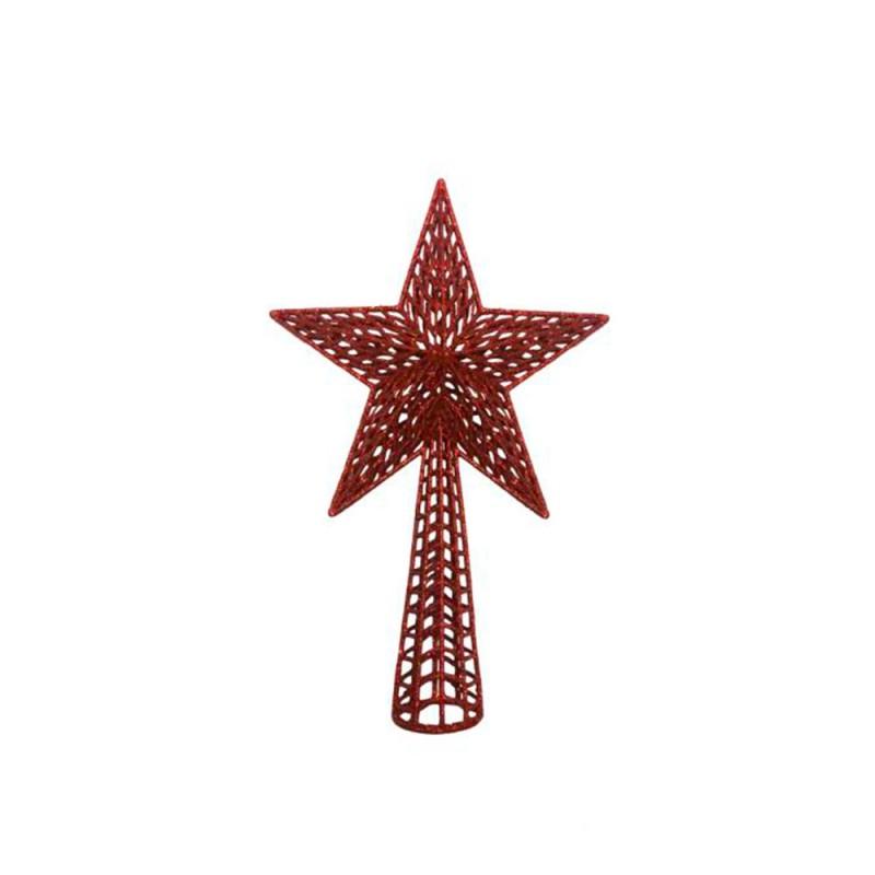 Estrela • Vermelha com Glitter