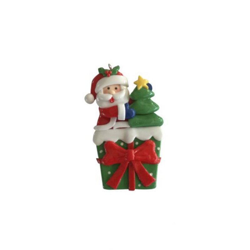 Enfeite • Papai Noel • Quadrado • Natal