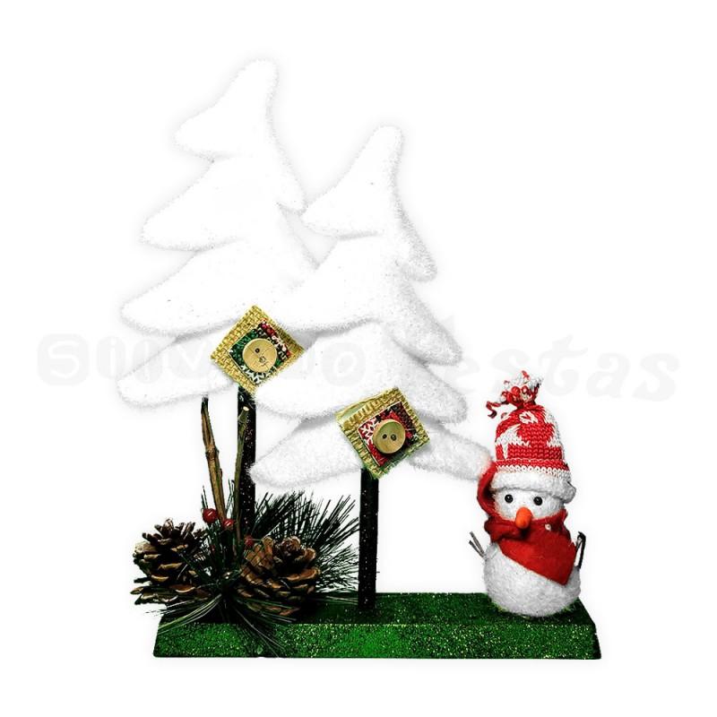 Enfeite Espuma • Boneco de Neve • Natal