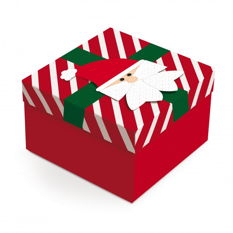 Caixa Pequena com Aplique • Papai Noel
