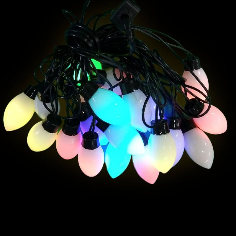 Varal de Luzes • Colorido • 3,8 metros • 20 LED Lamp.COL F/PRT