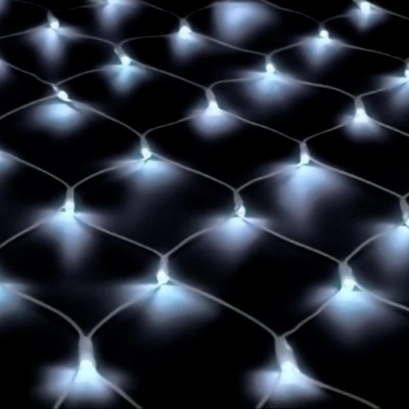 160 Lâmpada Led • Rede de Luzes • 4F • Branca • 1,25 metros