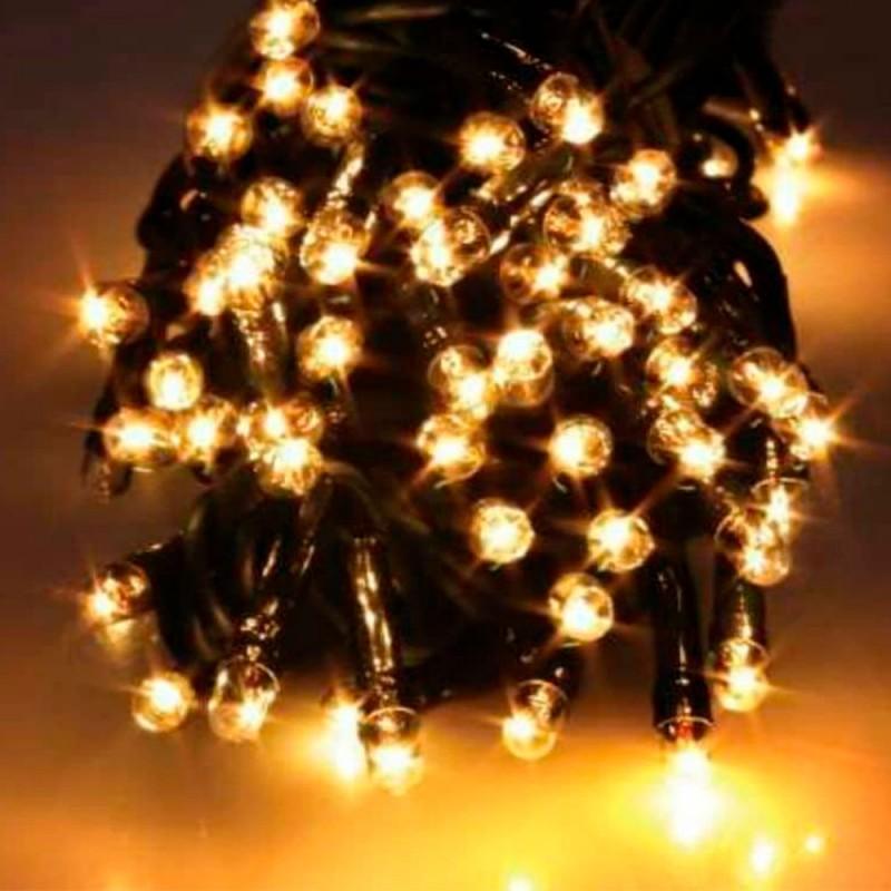 100 Lâmpadas • Luzes de Led • Branco Ambar • 10 metros  • 100 Warm Fixo 127v