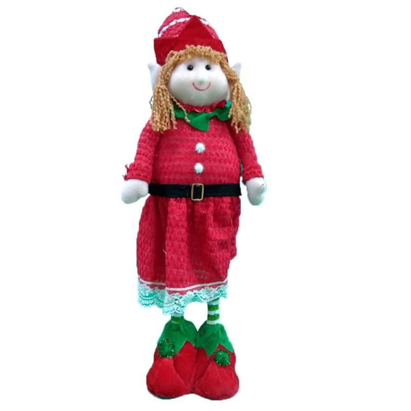 Boneco • Duende Menina • Vermelho Verde • Natal