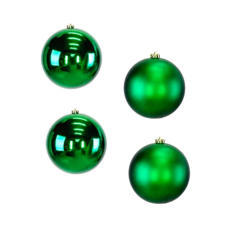 Bola • Verde • 4 un • Grande • Natal