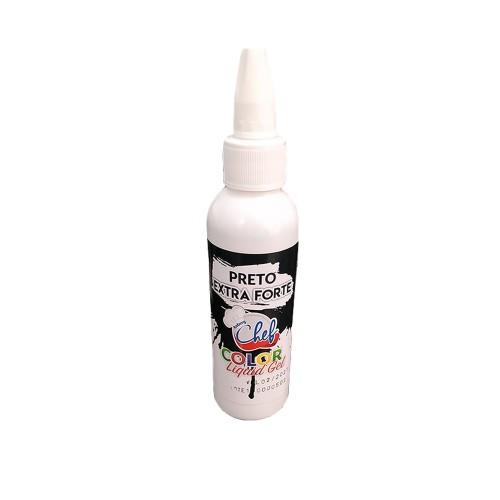 Corante Liquid Gel • Extra Forte • Preto