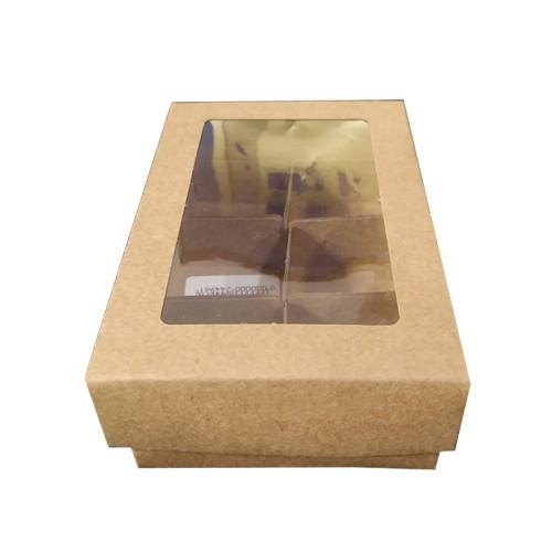 Caixa • 6 Doces • Papel/Kraft