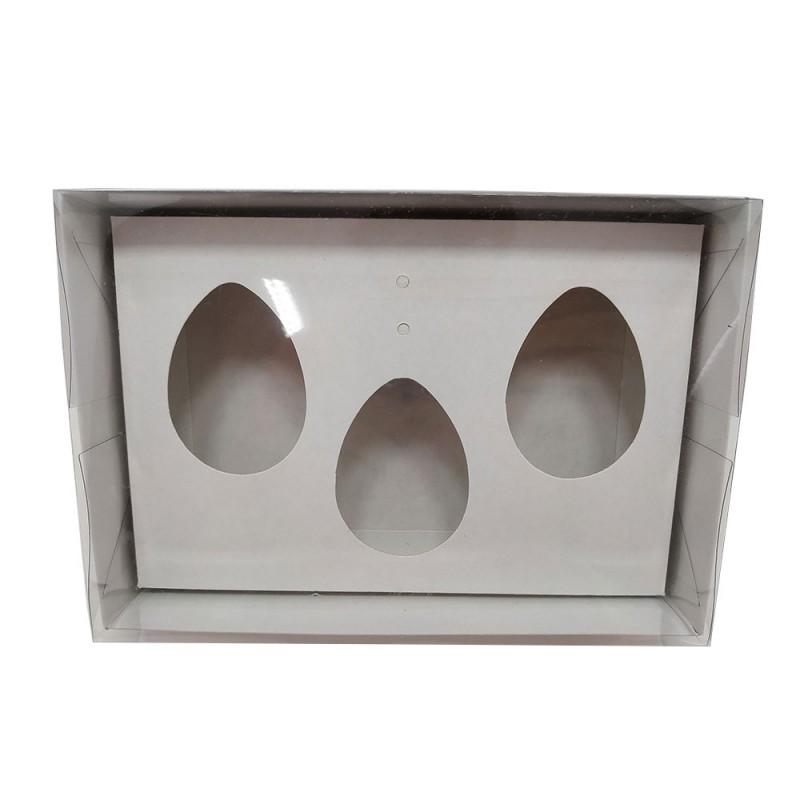 Caixa para Ovo de Colher • 3 Cavidades • 50g