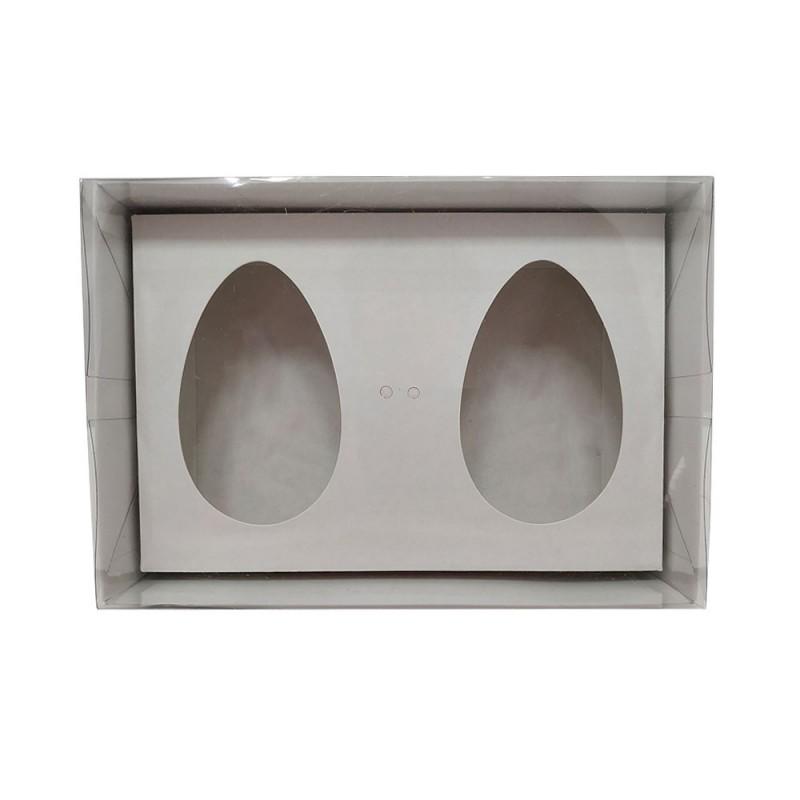 Caixa para Ovo de Colher • 2 Cavidades • 150g