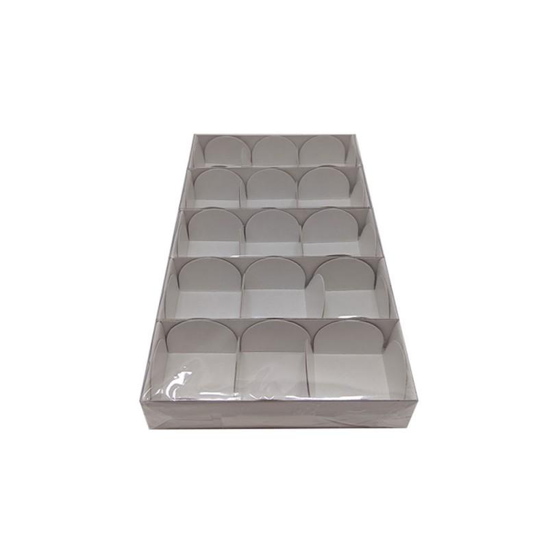 Caixa para 3 Doces • Pacote com 5 • 12cm X 04cm