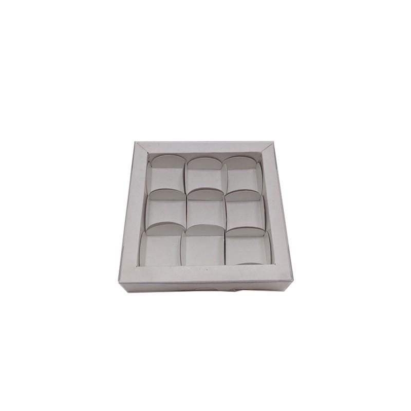 Caixa para 9 Doces • 13,5cm X 13,5cm