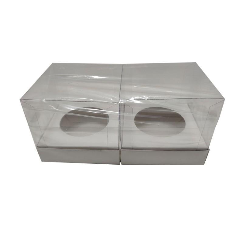 Caixa para Cupcake • Pacote com 2 • 9,5cm X 9,5cm