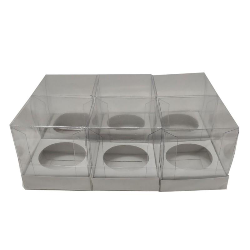 Caixa para Cupcake • Pacote com 6 • 9,5cm x 9,5cm