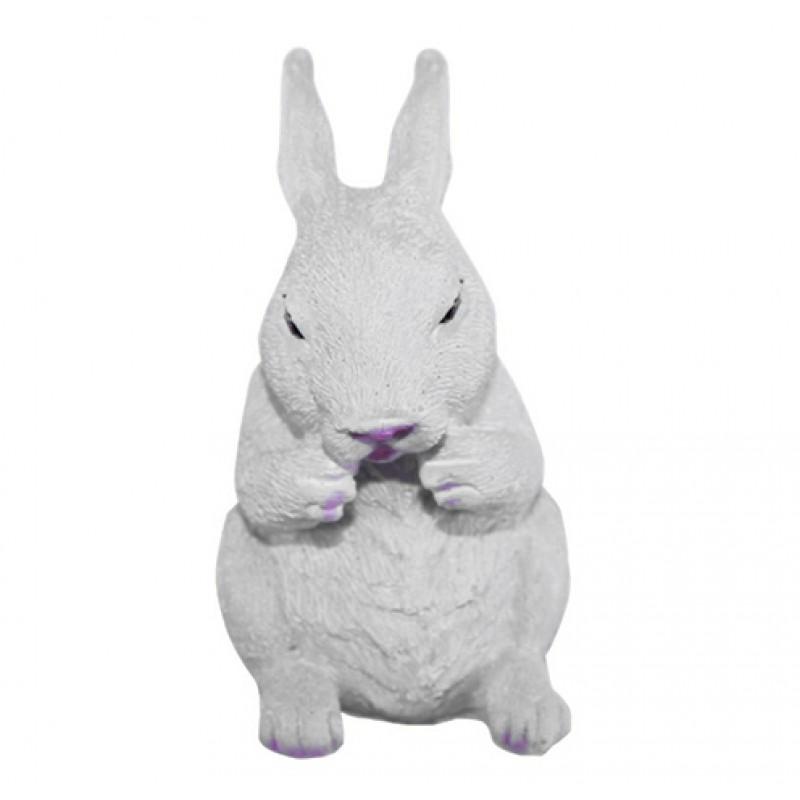 Enfeite Cerâmica • Coelhinho • Branco
