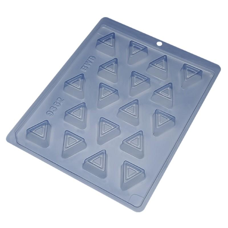 Forma de Acetato • 18 Bombons Geo. Triângulo